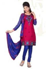 Cotton Embroidered Salwar Kameez Suit UnStitched Dress Material -Lia14