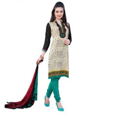 "Sinina Women""s Cotton Embroidered  Straight Salwar Kameez Un Stitched  Dress Material ? LWB302"