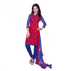 "Sinina Women""s Cotton Embroidered  Straight Salwar Kameez Un Stitched  Dress Material ? LWB307"