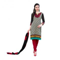 "Sinina Women""s Cotton Embroidered  Straight Salwar Kameez Un Stitched  Dress Material ? LWB309"