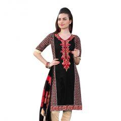 "Sinina Women""s Cotton Embroidered  Straight Salwar Kameez Un Stitched  Dress Material ? LWB310"