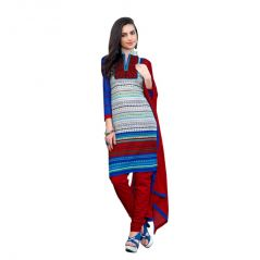"Sinina Women""s Cotton Embroidered  Straight Salwar Kameez Un Stitched  Dress Material ? LWB311"