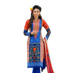"Sinina Women's Clothing - Sinina Women""s Cotton Embroidered  Straight Salwar Kameez Un Stitched  Dress Material ? Mist08"