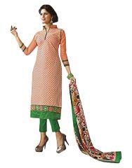 Sinina Dress Materials (Singles) - Sinina  Women's  Cotton Orange Color Unstitched Dress Material-REDSKMasha69