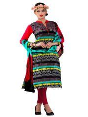 Sinina Cotton Embroidered Salwar Kameez Suit Unstitched Dress Material-wave21