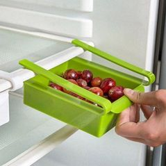 1.75 Liters Sliding Organizer Rack For Refrigerator Fridge Multi-purpose Office Table, Kitchen Bathroom Cabinet Portable Slider Basket Drawers Storage