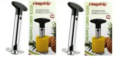 Omrd Set Of 2 Stainless Steel Easy Pineapple Corer,slicer