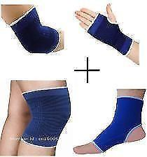 Combo Of 4 Ankle Knee Elbow Palm Support Pairs For Gym Exercise Grip