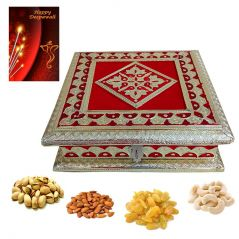 Dry Fruit Gift box Hamper Pack Decorative Dry fruit Box with quality dry fruits n Greeting card