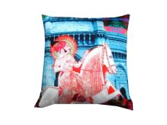 Welhouse India The King's Horse Riding 3D Cushion Covers - Pack of 1