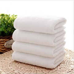 Welhouse India Plain White Face Towel set of 4