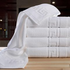 Welhouse India Plain White Hand Towel set of 5