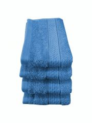 Welhouse India 500 GSM Cotton 4 Piece Face Towel Set (30X30)