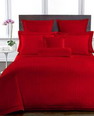 Welhouse Red Colour Stripes Design 1 Double Bedsheet With 2 Pillow Covers (250 TC)