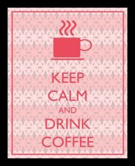 10 Am Keep Calm Coffee Framed Wall Art  ( Fkcc9  )