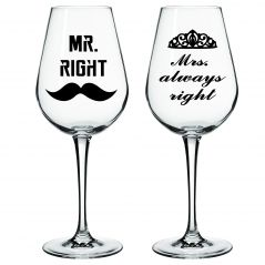 10 am Mrs Always Right Wine glass ( WGMAR8 )