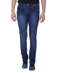 Savon Mens Slim Fit Stretch Blue Denim Jeans For Men 1035-01