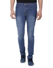 Savon Mens Slim Fit Stretch Blue Denim Jeans For Men 1036-01