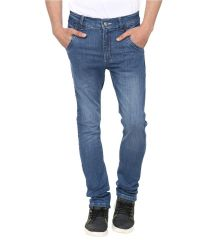 Savon Exclusive Blue Slim Fit Faded Jeans