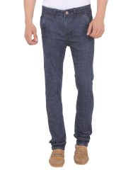 Savon Mens 16124_03 Slim Fit Blue Stretch Denim Jeans For Men