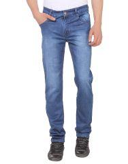 Savon Mens Ni11112_02 Slim Fit Blue Stretch Denim Jeans For Men