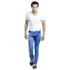 Savon Mens Slim Fit Stretch Blue Denim Jeans For Men Sh501101-01
