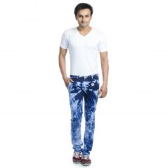 Savon Mens Slim Fit Stretch Blue Denim Jeans For Men Sh501106-01