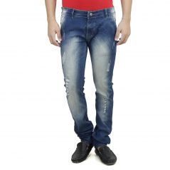 SAVON Mens Slim Fit Trouser Shape Stretch Blue Denim Jeans For Men (Product Code - SH507115-02)