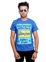 Neva Men's Blue Premium Quality T- Shirt 4x8a6495