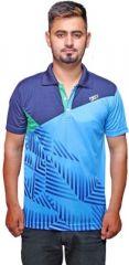 Port T Shirts (Men's) - Port Blue Cotton T- Shirt for men r_16