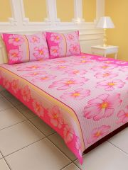 Sai Arpan's PolyCotton Double Bed Sheet with Pillow Covers D.No. 1122