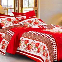 Double Bed Sheets - Sai Arpan's Premium Double Bed Sheet With 2 Pillow Covers D. 1126