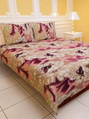 Sai Arpan's PolyCotton Double Bed Sheet with Pillow Covers D.No. 1128