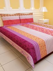 Sai Arpan's PolyCotton Double Bed Sheet with Pillow Covers D.No. 1154