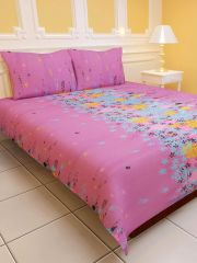 Sai Arpan's PolyCotton Double Bed Sheet with Pillow Covers D.No. 1160
