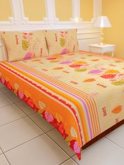 Sai Arpan's PolyCotton Double Bed Sheet with Pillow Covers D.No. 1187