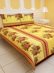 Sai Arpan's PolyCotton Double Bed Sheet with Pillow Covers D.No. 1188