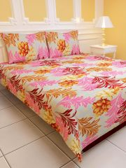 Sai Arpan's PolyCotton Double Bed Sheet with Pillow Covers D.No. 1411