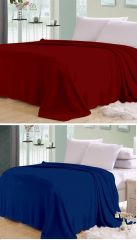 Shop or Gift Sai Arpan Plain Double Bed AC Blanket Buy 1 Get 1 Free_Brown-Blue Online.