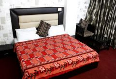 Sai Arpan's Printed Double Bed AC Blanket_RedChecksShort