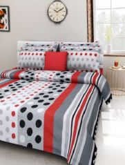 Sai Arpan' 100% Cotton Double Bed Sheet With Pillow Covers