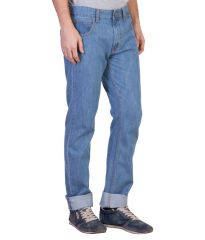 Ruf N Tuf Jeans (Men's) - Ruf & Tuf Stylish Party Casual Blue Denim Jeans