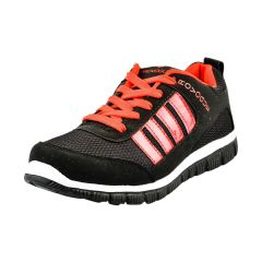 Provogue Black and Red Running Sports Shoes
