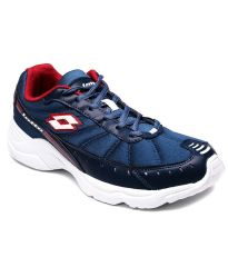 Lotto Sport Shoes (Men's) - Lotto Traunt Blue & Red Running Shoes - AR2135