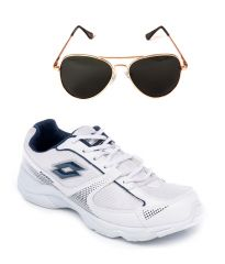 Lotto Sport White Running Shoes And Lotto Aviator