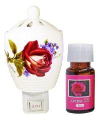ZARSA Aroma Diffuser With 10ml Rose Aroma Oil - CAPDiffuser_Rose1pc