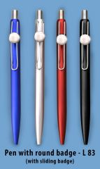 Gift Or Buy L83 - Pen with Round badge