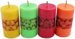 Zarsa Pillar Scented Candle(Multicolor, Pack of 4)