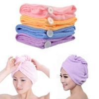 Buy 1 Get 1 Free New Microfiber Hair Wrap Bath Towel Cap For Women