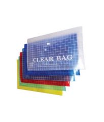 Tausif New My Clear Bag / A4 Size / Assorted Colours Set of 6 Pc